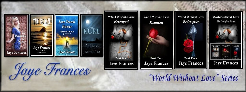 jaye frances author world without love erotica suspense series